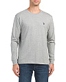 Long Sleeve Heather Crew Neck Top