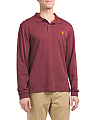 Long Sleeve Heather Interlock Polo
