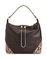 Leo Leather Hobo