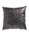 Made In USA 20x20 Faux Leather Pillow