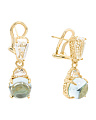 Made In Thailand Sterling Silver Blue Topaz Drop Earrings