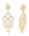 Made In Thailand Sterling Silver Cubic Zirconia Chandelier Earrings
