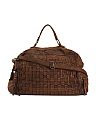 Made In Italy Leather Woven Duffel