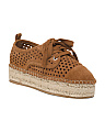 Lace Up Suede Espadrille Sneakers