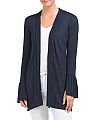 Pleated Sleeve Cardigan