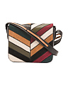 Modern Chevron Leather Flap Crossbody