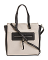 Leather Colorblock Hero Tote