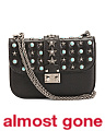 Made In Italy Star Studded Leather Shoulder Bag