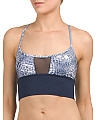 Wind Band Printed Sports Bra