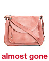 Flap Front Leather Crossbody