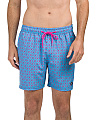 Anchor Print Swim Shorts