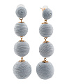 Handmade Thread Wrapped 4 Tier Ball Earrings
