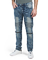 Moto Stretch Jeans With Zippers