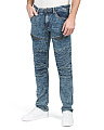 Moto Panel Jeans With Stretch