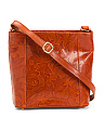 Made In Italy Tulip Leather Crossbody
