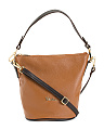 Made In Italy Leather Top Handle Crossbody