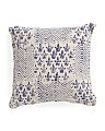 Made In India 19x19 Stonewash Pillow