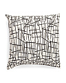 Made In USA 22x22 Sticks Print Pillow