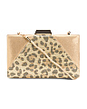 Leopard Print Detailed Clutch