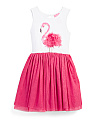 Infant & Toddler Girls Flamingo Knit Dress