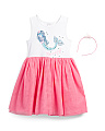 Girls Ice Cream Mermaid Dress  With Headband