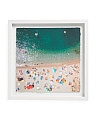 18x18 Packed Beach Wall Art