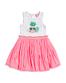 Infant & Toddler Girls Pineapple Knit To Woven Bubble Dress
