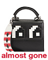 Made In Italy Micro Alex Eyes Leather Satchel
