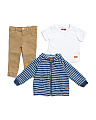 Infant & Toddler Boys 3pc Hooded Set