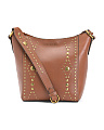 Leather Harness Bucket Crossbody