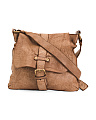 Made In Italy Leather Flap Crossbody