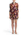 Juniors Sheer Floral Mesh Dress