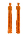 Made In India Seed Bead Tassel Earrings
