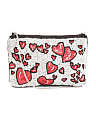 Heart Beaded Canvas Crossbody