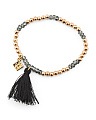 Made In Canada Preciosa Crystal And Cotton Tassel Bracelet
