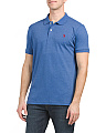 Solid Heather Interlock Classic Polo