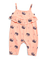 Baby Girls Elephant Coveralls