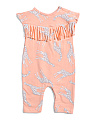 Baby Girls Giraffe Fringe Coveralls