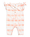 Baby Girls Tie Dye Coveralls
