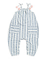 Baby Girls Striped Coveralls