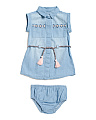 Girls Infant & Toddler Denim Dress
