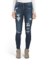 Juniors High Rise Destructed Jeans