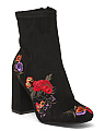 Embroidered Floral Booties