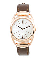 Women's Swiss Made Horsebit Leather Strap Watch