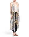 Kaleidoscope Print Long Vest