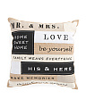 20x20 Patchwork Love Pillow