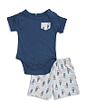 Baby Boys Toucan Bodysuit Short Set