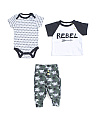 Baby Boys 3pc Rebel Camo Pant Set