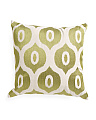 18x18 Made In India Eyedrop Pattern Pillow