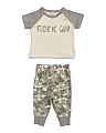 Baby Boys Rock On Dino Camo Jogger Set